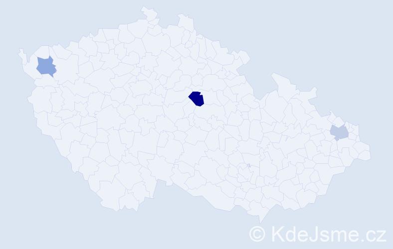 Příjmení: 'Ady', počet výskytů 12 v celé ČR