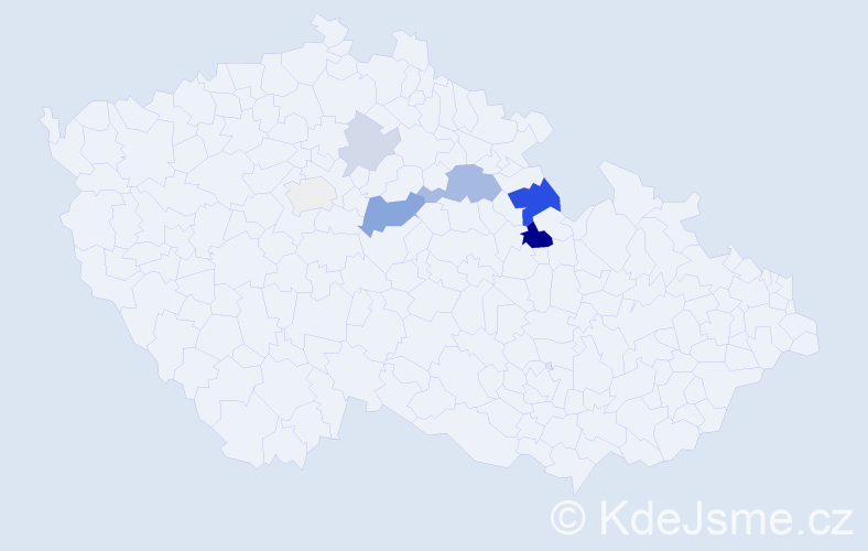 Příjmení: 'Felger', počet výskytů 17 v celé ČR