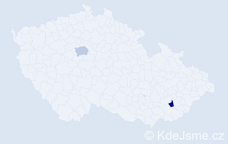 Příjmení: 'Ermlová', počet výskytů 6 v celé ČR