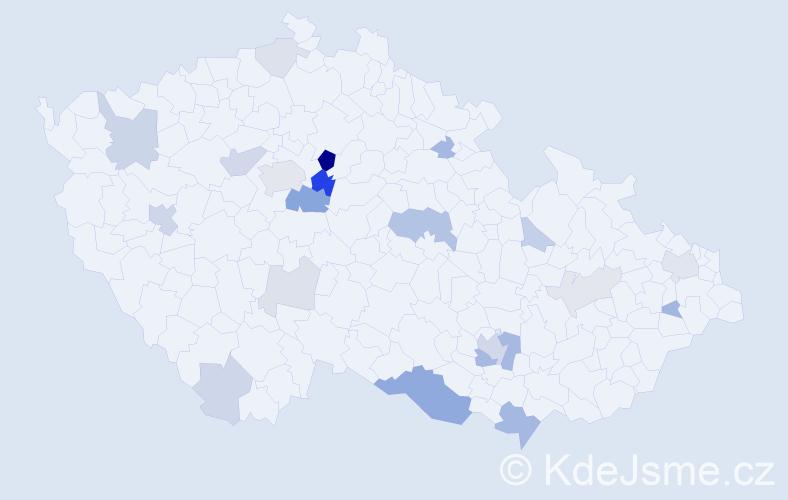 Příjmení: 'Hrázský', počet výskytů 56 v celé ČR