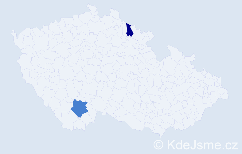 Příjmení: 'Drefko', počet výskytů 9 v celé ČR
