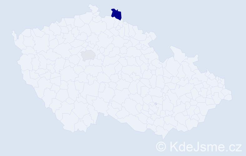 Příjmení: 'Kirakosjan', počet výskytů 7 v celé ČR