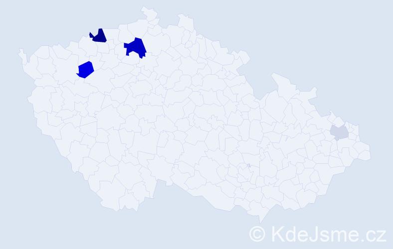 Příjmení: 'Dianiška', počet výskytů 9 v celé ČR