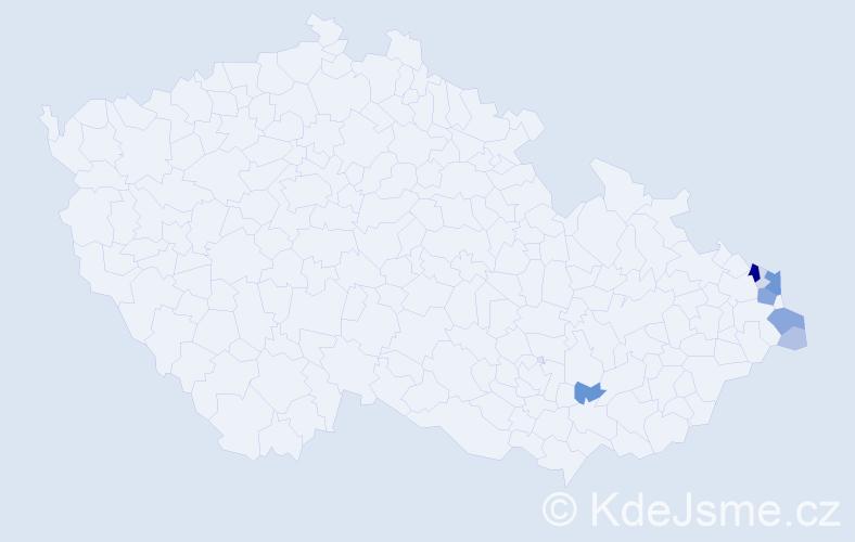 Příjmení: 'Holesz', počet výskytů 32 v celé ČR