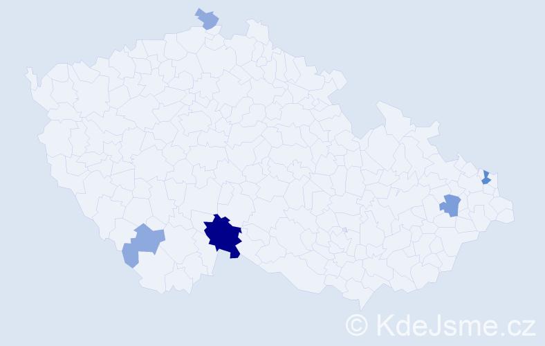 Příjmení: 'Balo', počet výskytů 14 v celé ČR