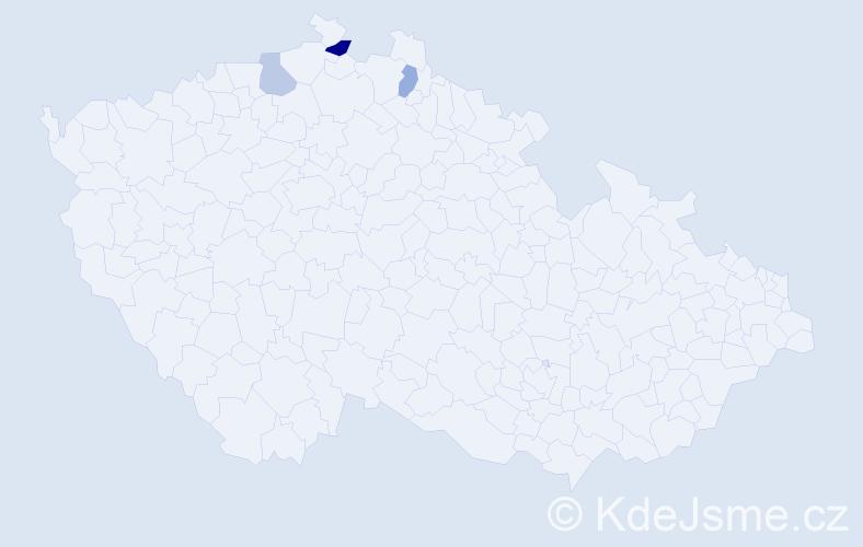 Příjmení: 'Flisák', počet výskytů 4 v celé ČR