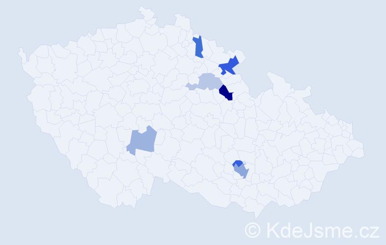 Příjmení: 'Krunka', počet výskytů 13 v celé ČR