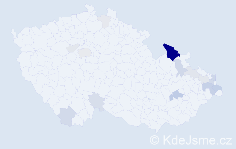 Příjmení: 'Beťáková', počet výskytů 41 v celé ČR