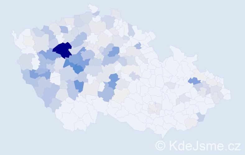 Příjmení: 'Hůlová', počet výskytů 625 v celé ČR