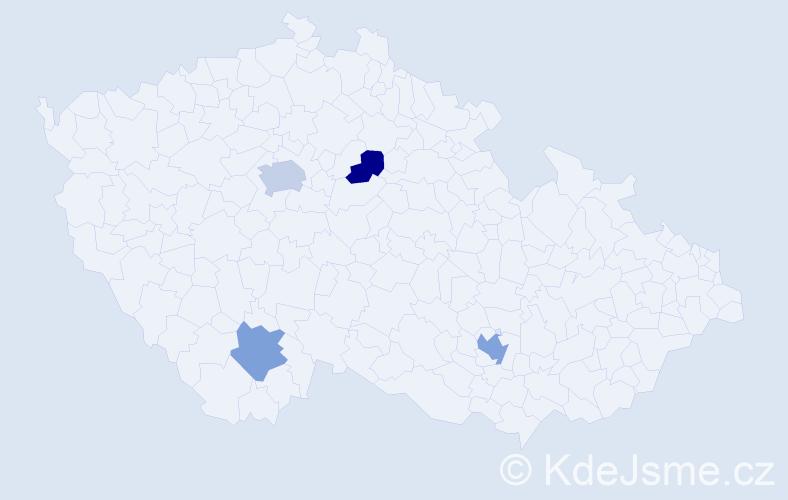 Příjmení: 'Deanová', počet výskytů 6 v celé ČR