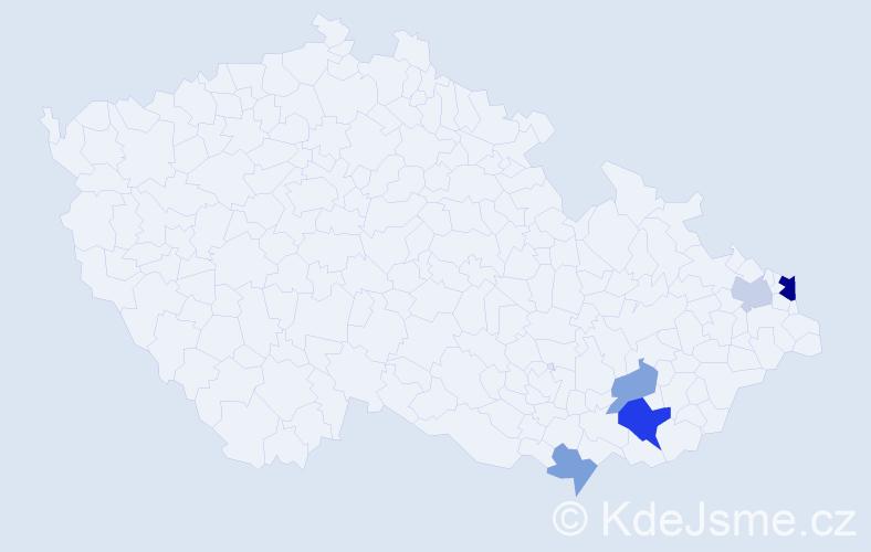 Příjmení: 'Ižo', počet výskytů 10 v celé ČR