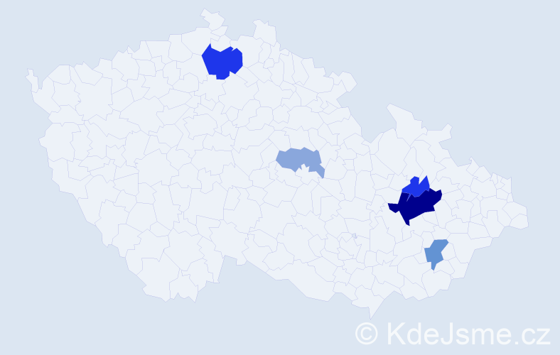 Příjmení: 'Guttek', počet výskytů 14 v celé ČR