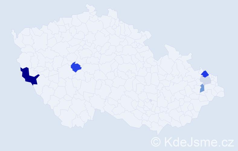 Příjmení: 'Grebáč', počet výskytů 8 v celé ČR