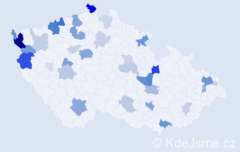 Příjmení: 'Dao', počet výskytů 94 v celé ČR