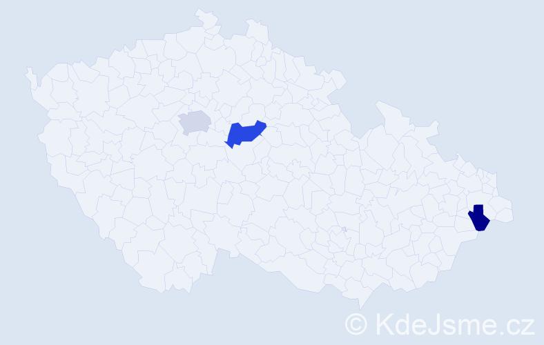 Příjmení: 'Jamieson', počet výskytů 5 v celé ČR