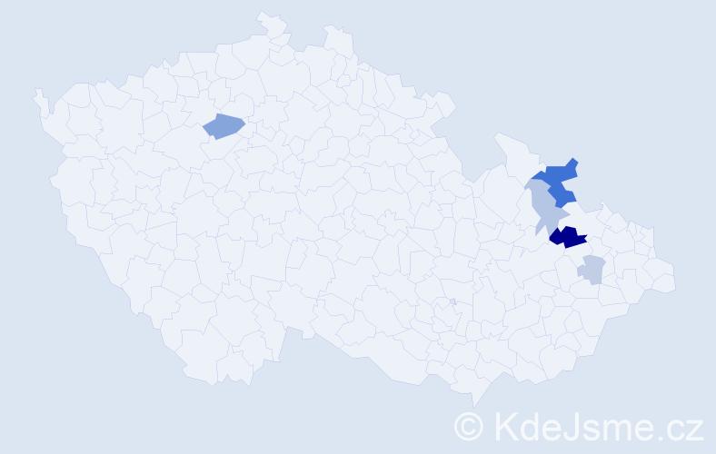 Příjmení: 'Bira', počet výskytů 12 v celé ČR