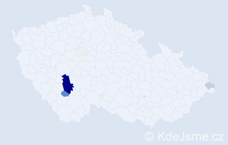 Příjmení: 'Kolpová', počet výskytů 13 v celé ČR