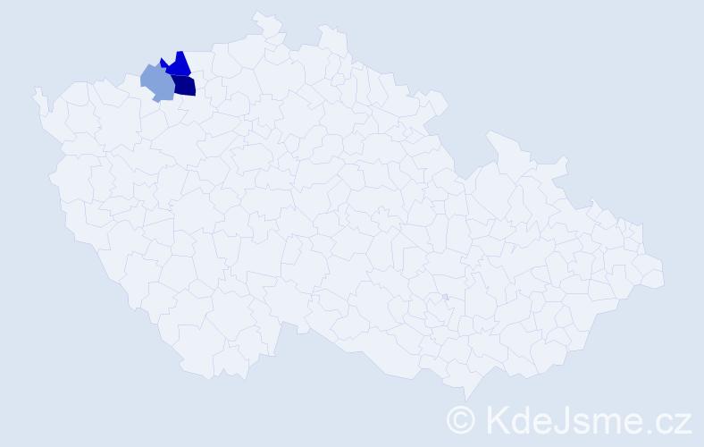Příjmení: 'Ivaňová', počet výskytů 7 v celé ČR