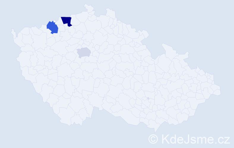 Příjmení: 'Illingová', počet výskytů 4 v celé ČR
