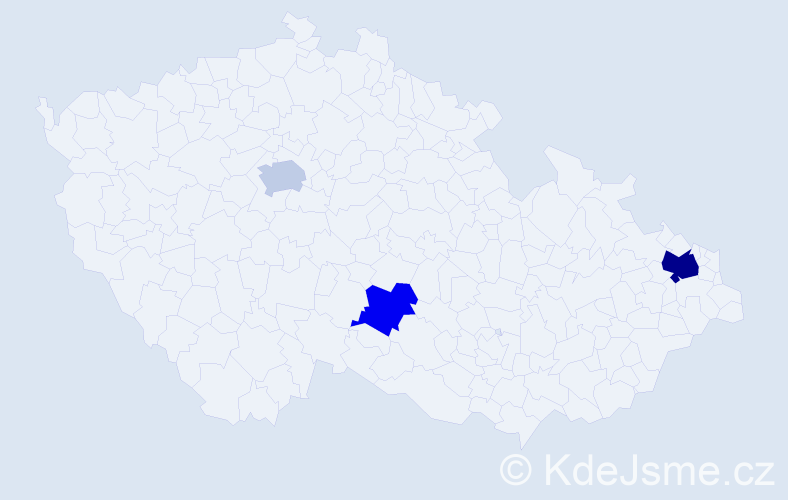 Příjmení: 'Gherbetzová', počet výskytů 5 v celé ČR