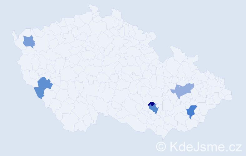 Příjmení: 'Cholek', počet výskytů 11 v celé ČR