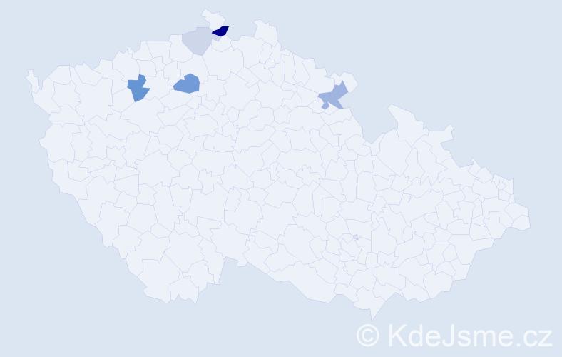 Příjmení: 'Denigrová', počet výskytů 11 v celé ČR