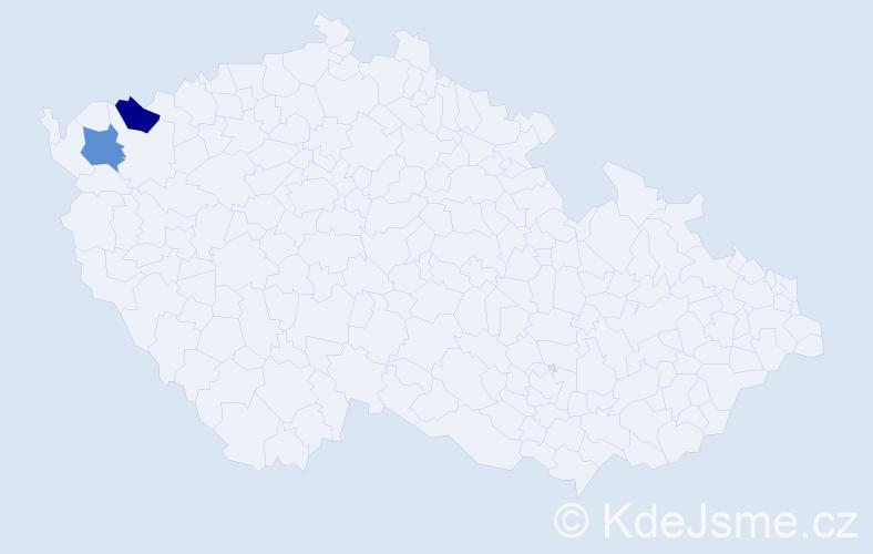 Příjmení: 'Andreanský', počet výskytů 2 v celé ČR