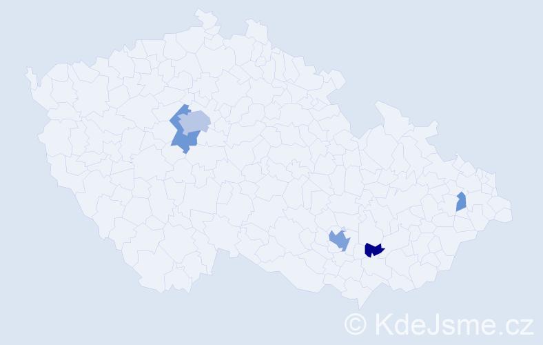 Příjmení: 'Lamser', počet výskytů 13 v celé ČR