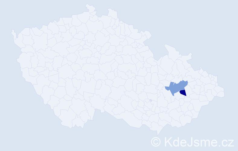 Příjmení: 'Graflová', počet výskytů 3 v celé ČR