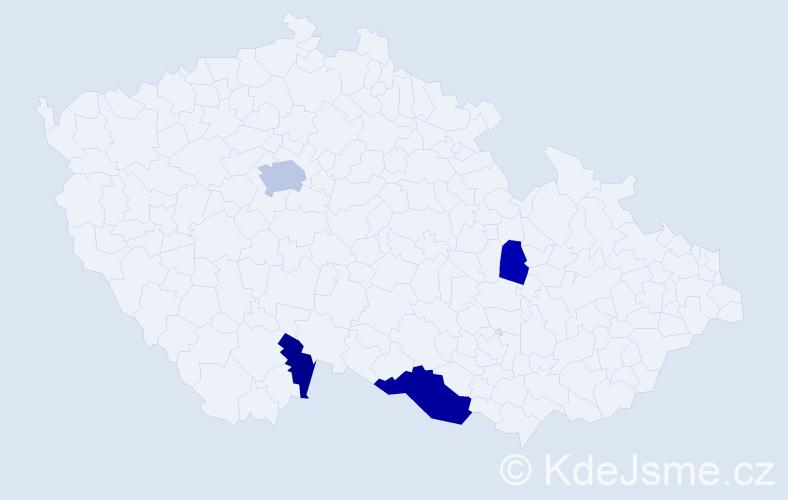 Příjmení: 'Islami', počet výskytů 8 v celé ČR