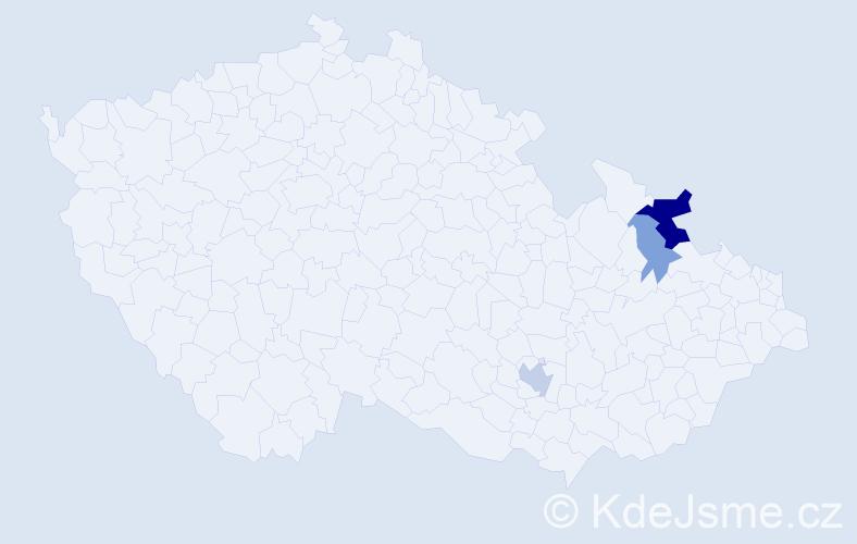 Příjmení: 'Čeparová', počet výskytů 7 v celé ČR