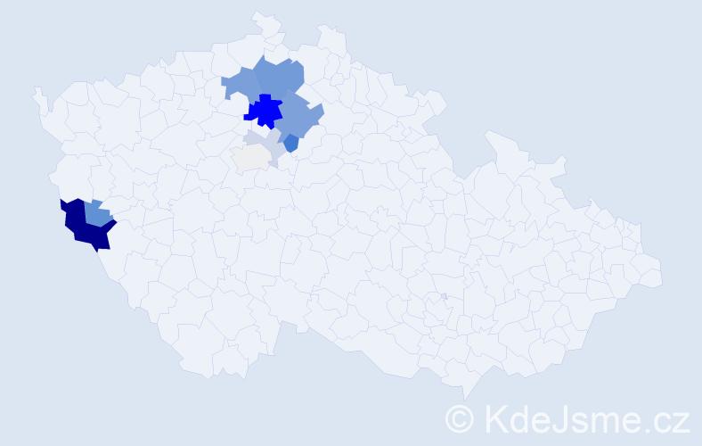 Příjmení: 'Fidrant', počet výskytů 29 v celé ČR
