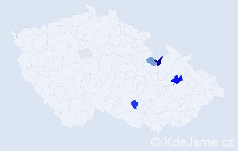 Příjmení: 'Introvičová', počet výskytů 7 v celé ČR