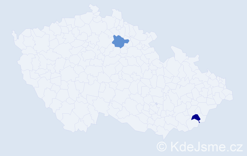 Příjmení: 'Adamyková', počet výskytů 2 v celé ČR