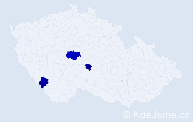 Příjmení: 'Hamajda', počet výskytů 5 v celé ČR