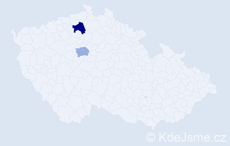 Příjmení: 'Legnavská', počet výskytů 3 v celé ČR