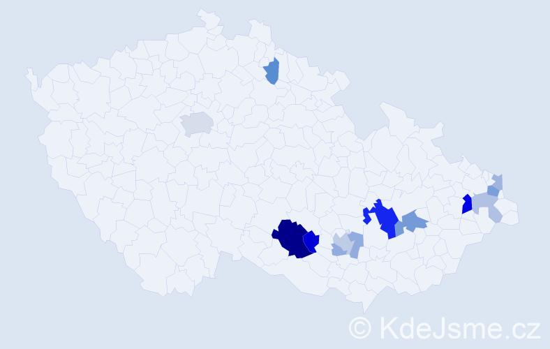 Příjmení: 'Drbálková', počet výskytů 28 v celé ČR