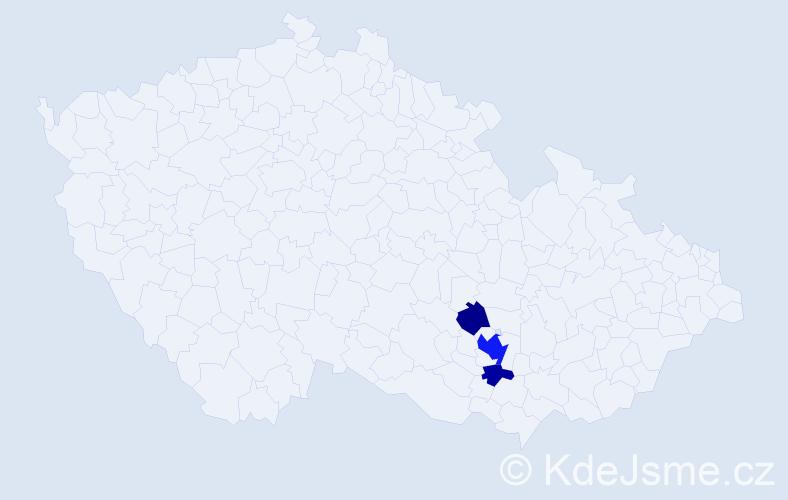 Příjmení: 'Egerlová', počet výskytů 8 v celé ČR