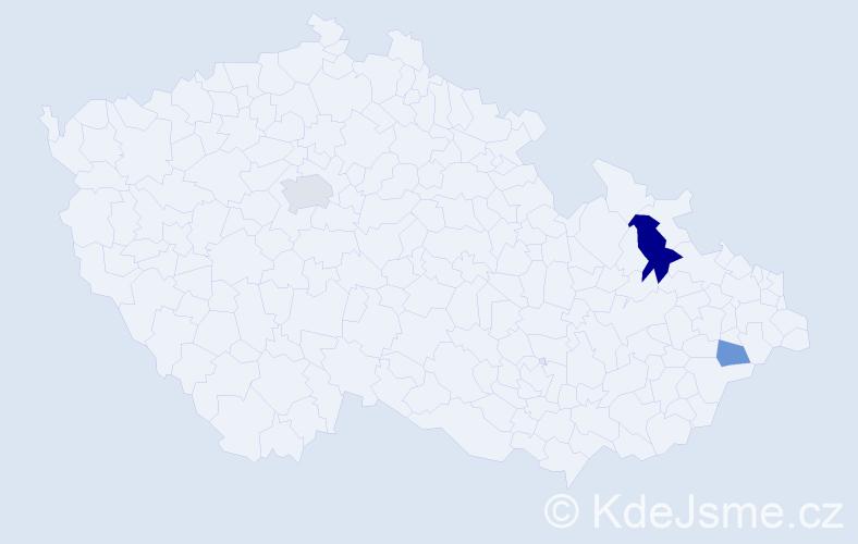 Příjmení: 'Cárachová', počet výskytů 6 v celé ČR