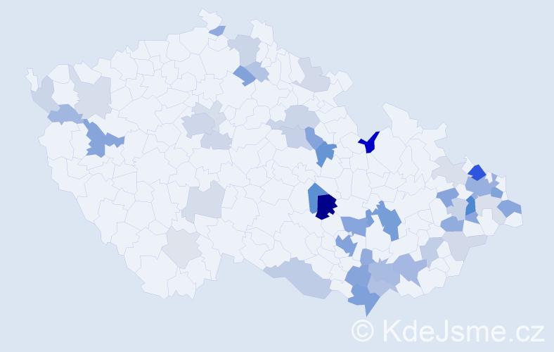 Příjmení: 'Kašubová', počet výskytů 124 v celé ČR