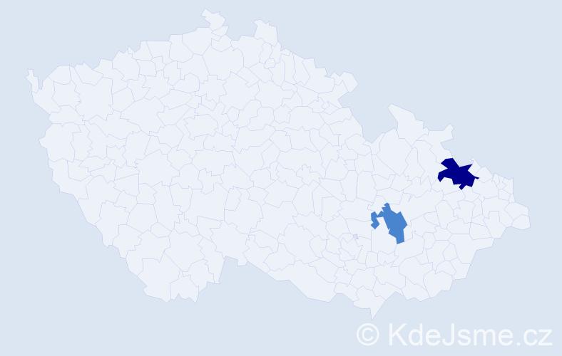 Příjmení: 'Čepko', počet výskytů 3 v celé ČR