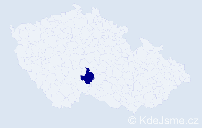 Příjmení: 'Boscainová', počet výskytů 1 v celé ČR