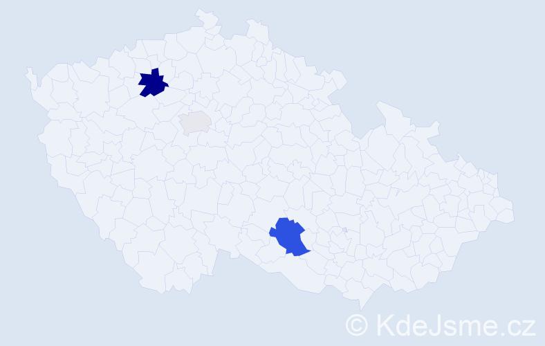 Příjmení: 'Dorůžková', počet výskytů 7 v celé ČR