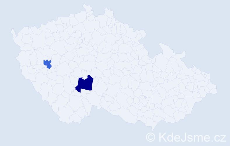 Příjmení: 'Chacholos', počet výskytů 2 v celé ČR