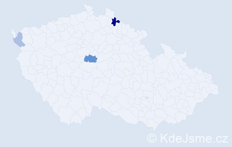 Příjmení: 'Kerbic', počet výskytů 7 v celé ČR