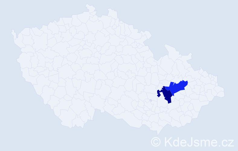 Příjmení: 'Leišnerová', počet výskytů 4 v celé ČR
