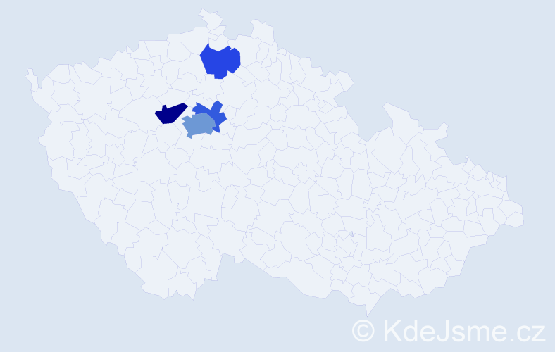 Příjmení: 'Arnsteinová', počet výskytů 9 v celé ČR
