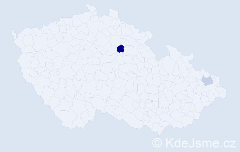 Příjmení: 'Charizan', počet výskytů 2 v celé ČR