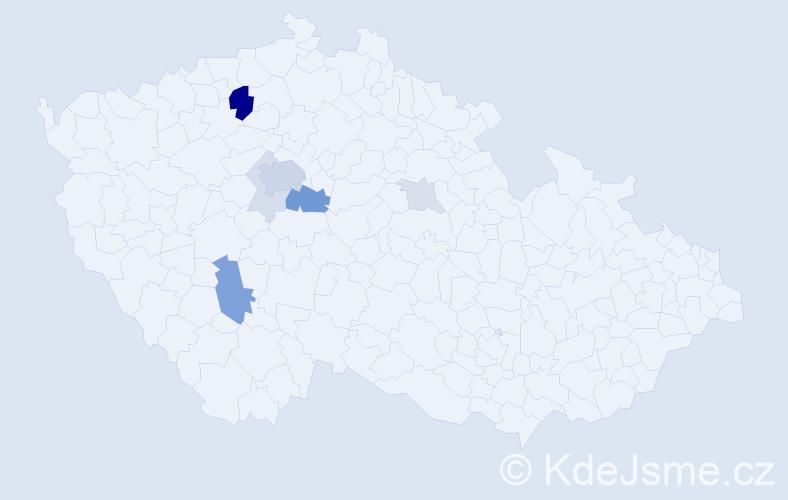 Příjmení: 'Červinský', počet výskytů 26 v celé ČR