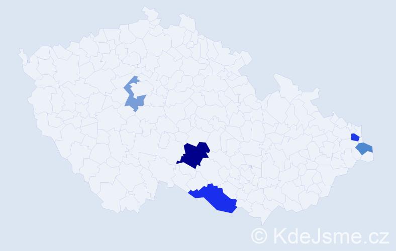 Příjmení: 'Jarco', počet výskytů 9 v celé ČR